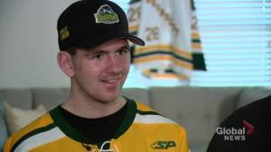 Humboldt Broncos' Layne Matechuk speaks after release from hospital