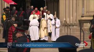 Rob Ford's casket departs St. James Cathedral