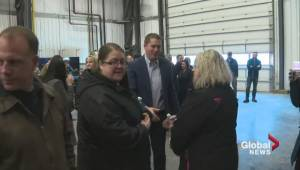 Scheer receives warm welcome at Nisku oil rally
