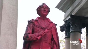 John A. Macdonald statue vandalized in downtown Montreal
