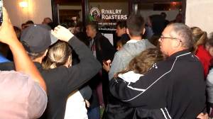 California bar shooting: Vigil held for victim outside his coffee shop