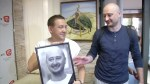 Russian journalist reunites with colleagues following faked 'murder'