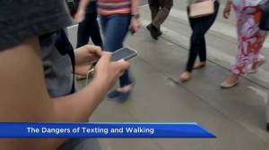 How distracted are people when they are walking and texting?