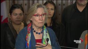 Carolyn Bennett fights back tears as she discusses '60's Scoop'