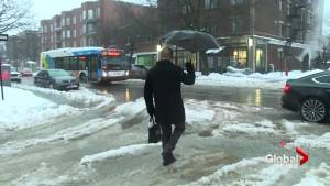 Bad weather hits Montreal