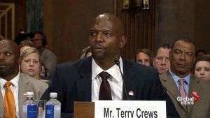 Terry Crews testifies before a Senate committee about sexual abuse