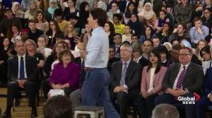 Trudeau defends carbon tax during town hall in Cambridge