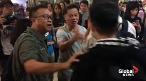 Hong Kong protesters disrupt morning commute