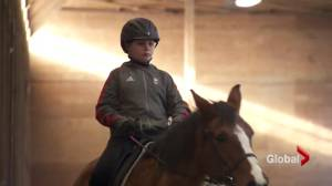 CKNW Orphans' Fund: Benjamin goes riding