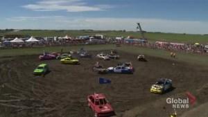 Coaldale hosts 8th annual 'Carnage in Coaldale' smash and splash demolition derby and mud bog