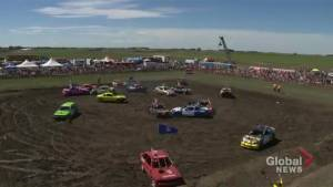 Coaldale hosts 8th annual 'Carnage in Coaldale' smash and splash demolition derby and mud bog