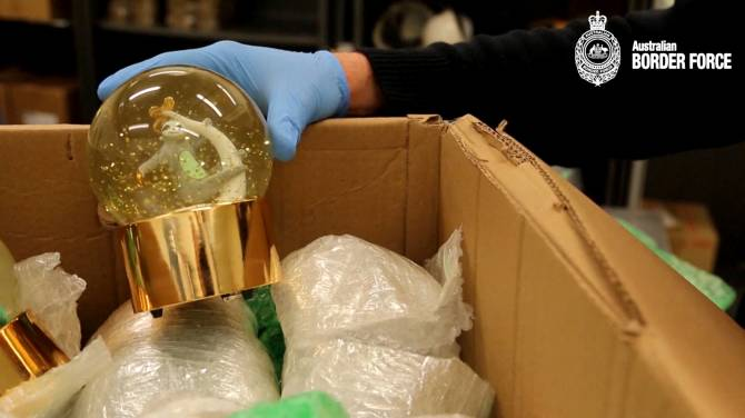 Canadian snow globes filled with meth identified at Australian border