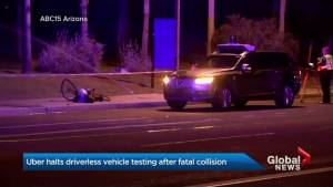 Uber pauses testing of autonomous cars after fatal collision in Arizona