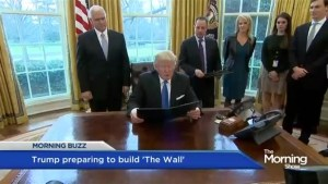 Trump prepares to build the wall