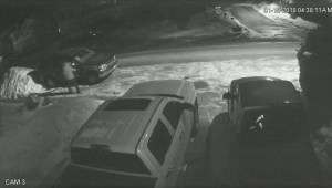 Surveillance camera captures Vernon vehicle vandalism