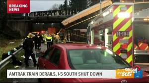 Motorist describes watching Amtrak train derailment in Washington state