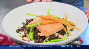 Lake Diefenbaker trout and lentils