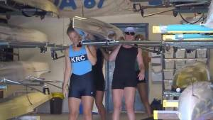 Canadian rowers training in Kingston