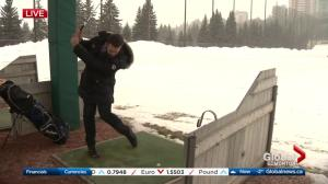 Edmonton golf course driving range opening despite winter weather