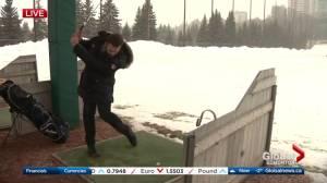 Edmonton golf course driving range opening despite winter weather