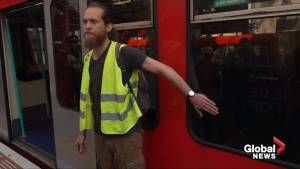 Climate change activists superglue themselves to London train