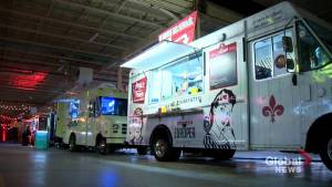 New food truck market opens at old Salada Tea Factory. (01:56)