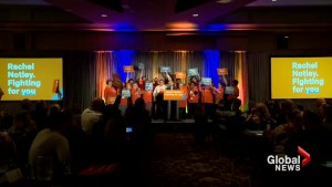 Election frontrunners rally their base in Lethbridge