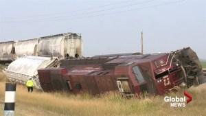 Third CP Rail train derails in southern Alberta this year