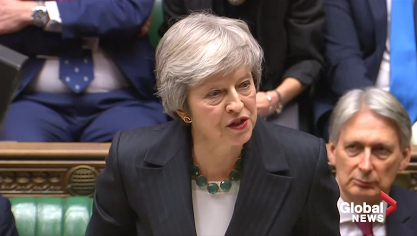 Your Brexit plans will not solve Irish border issue, May tells critics