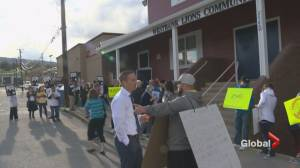 Protesters descend on forum in Christy Clark's riding