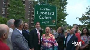 Cote-St-Luc inaugurates Leonard Cohen Lane