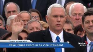 Trump inauguration: Mike Pence takes the oath of office