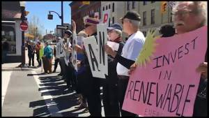 Protest in Peterborough over Kinder Morgan pipeline project