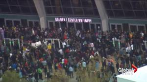 Protests erupt in Sacramento following fatal police shooting