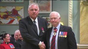 RCMP Constable Gary Bubelis receives Medal of Bravery for his actions during Ottawa shooting