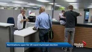 Nominations now open for Toronto city council's new 25-ward model