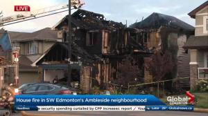 6 people taken to hospital after Edmonton house fire