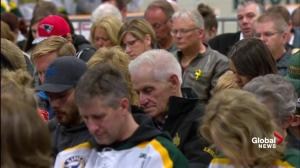 Humboldt Broncos vigil: Minute of silence held for victims
