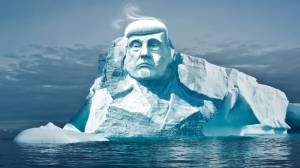 Environmental group wants to carve Trump's face into arctic iceberg
