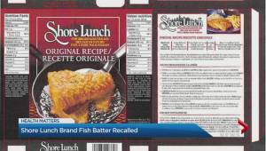 Shore Lunch brand fish batter recalled
