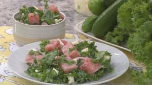 Dan Clapson's watermelon & kale salad recipe