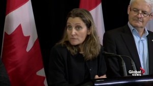 Chrystia Freeland remains tight-lipped while pressed on NAFTA talks