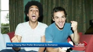 Study shows young men prefer bromance to romance