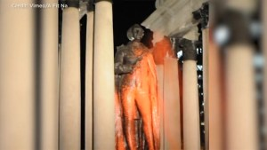 Sir John A. Macdonald statue vandalized in Montreal by activists