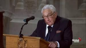 John McCain funeral: Henry Kissinger honours senator at funeral in Washington, D.C.