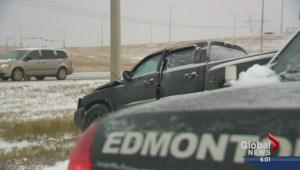 Blast of winter hits Edmonton area