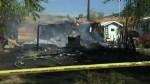 Suspicious fire destroys north Okanagan mobile home