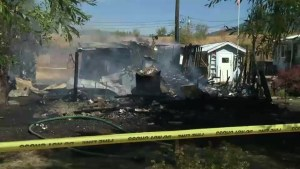 Suspicious fire destroys north Okanagan mobile home