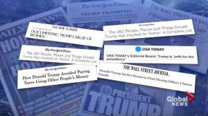 Donald Trump vs. the press