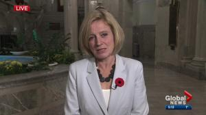 Premier Rachel Notley weighs in on fall session at Alberta legislature